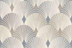 6367 cikkszámú tapéta.Geometriai mintás,különleges motívumos,bézs-drapp,szürke,lemosható,vlies tapéta