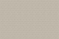 6375 cikkszámú tapéta.Geometriai mintás,pöttyös,bézs-drapp,lemosható,vlies tapéta