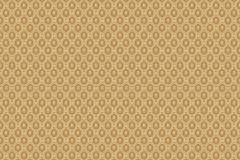 6376 cikkszámú tapéta.Geometriai mintás,pöttyös,arany,barna,lemosható,vlies tapéta