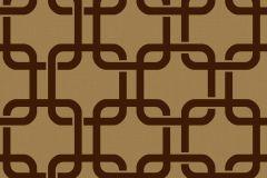 6385 cikkszámú tapéta.Metál-fényes,plüss felületű,retro,velúr felületű,geometriai mintás,különleges felületű,barna,bronz,vlies tapéta