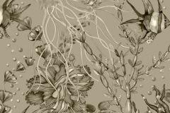 6390 cikkszámú tapéta.állatok,különleges motívumos,metál-fényes,természeti mintás,fekete,szürke,lemosható,vlies tapéta