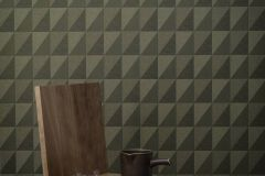 4553 cikkszámú tapéta.Geometriai mintás,különleges felületű,zöld,lemosható,vlies tapéta