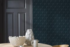 4554 cikkszámú tapéta.Geometriai mintás,különleges felületű,kék,lemosható,vlies tapéta