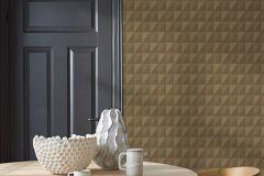 4555 cikkszámú tapéta.Geometriai mintás,különleges felületű,sárga,lemosható,vlies tapéta