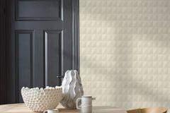 4556 cikkszámú tapéta.Geometriai mintás,különleges felületű,bézs-drapp,lemosható,vlies tapéta