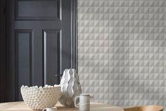 4557 cikkszámú tapéta.Geometriai mintás,különleges felületű,barna,bézs-drapp,lemosható,vlies tapéta