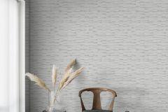 4563 cikkszámú tapéta.Absztrakt,különleges felületű,metál-fényes,fehér,szürke,lemosható,vlies tapéta