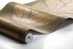 4573 cikkszámú tapéta.Absztrakt,különleges felületű,metál-fényes,természeti mintás,arany,barna,lemosható,vlies tapéta