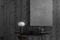 4576 cikkszámú tapéta.Absztrakt,különleges felületű,metál-fényes,természeti mintás,barna,szürke,lemosható,vlies tapéta