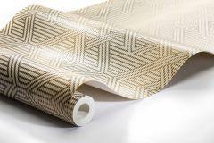 4579 cikkszámú tapéta.Absztrakt,különleges felületű,metál-fényes,arany,fehér,lemosható,vlies tapéta