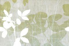 2428 cikkszámú tapéta.Absztrakt,természeti mintás,fehér,szürke,türkiz,zöld,vlies panel, fotótapéta
