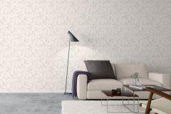 5256 cikkszámú tapéta.Rajzolt,természeti mintás,bézs-drapp,fehér,szürke,lemosható,vlies tapéta