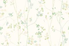 5257 cikkszámú tapéta.Rajzolt,természeti mintás,bézs-drapp,fehér,sárga,zöld,lemosható,vlies tapéta