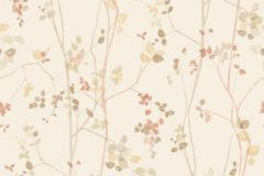 5258 cikkszámú tapéta.Rajzolt,természeti mintás,barna,bézs-drapp,sárga,lemosható,vlies tapéta