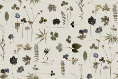 3660 cikkszámú tapéta.Természeti mintás,virágmintás,barna,bézs-drapp,kék,zöld,lemosható,vlies tapéta