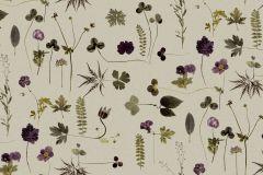 3661 cikkszámú tapéta.Természeti mintás,virágmintás,bézs-drapp,kék,lila,zöld,lemosható,vlies tapéta