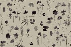 3662 cikkszámú tapéta.Természeti mintás,virágmintás,fekete,szürke,lemosható,vlies tapéta