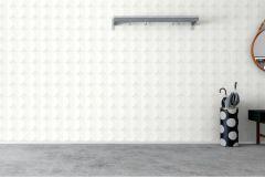 7151 cikkszámú tapéta.Geometriai mintás,különleges felületű,különleges motívumos,metál-fényes,fehér,szürke,lemosható,vlies tapéta