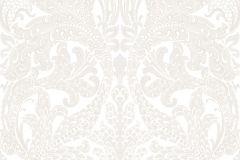 7176 cikkszámú tapéta.Barokk-klasszikus,csipke,különleges felületű,különleges motívumos,rajzolt,fehér,szürke,lemosható,vlies tapéta