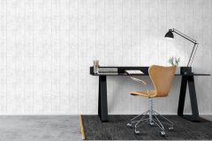 7182 cikkszámú tapéta.Dekor,fa hatású-fa mintás,különleges felületű,különleges motívumos,fehér,szürke,lemosható,illesztés mentes,vlies tapéta