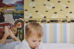 CR3005-2 cikkszámú tapéta.Emberek-sztárok,gyerek,rajzolt,bézs-drapp,fehér,piros-bordó,sárga,zöld,gyengén mosható,papír tapéta