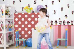 MN3002-1 cikkszámú tapéta.Emberek-sztárok,gyerek,rajzolt,fehér,fekete,piros-bordó,sárga,gyengén mosható,papír tapéta