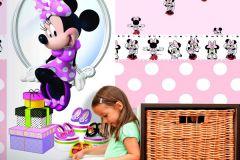 MN3002-3 cikkszámú tapéta.Emberek-sztárok,gyerek,rajzolt,fehér,fekete,pink-rózsaszín,piros-bordó,gyengén mosható,papír tapéta