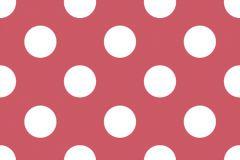 MO3006-1 cikkszámú tapéta.Gyerek,pöttyös,fehér,piros-bordó,gyengén mosható,papír tapéta