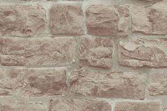 5818-11 cikkszámú tapéta.Konyha-fürdőszobai,kőhatású-kőmintás,különleges felületű,barna,narancs-terrakotta,szürke,lemosható,vlies tapéta