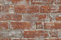 6318-06 cikkszámú tapéta.Konyha-fürdőszobai,kőhatású-kőmintás,különleges felületű,narancs-terrakotta,szürke,lemosható,vlies tapéta