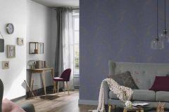6491-08 cikkszámú tapéta.Absztrakt,különleges felületű,arany,kék,lemosható,vlies tapéta