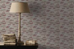 6703-13 cikkszámú tapéta.Kőhatású-kőmintás,különleges felületű,piros-bordó,sárga,szürke,lemosható,vlies tapéta