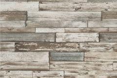 7319-10 cikkszámú tapéta.Fa hatású-fa mintás,különleges felületű,barna,bézs-drapp,kék,gyengén mosható,papír tapéta
