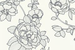 5403-10 cikkszámú tapéta.Különleges felületű,virágmintás,fehér,fekete,szürke,lemosható,vlies tapéta