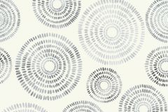 5406-10 cikkszámú tapéta.Geometriai mintás,különleges felületű,fehér,szürke,lemosható,vlies tapéta