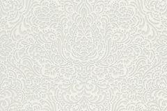 5413-01 cikkszámú tapéta.Barokk-klasszikus,különleges felületű,fehér,gyöngyház,lemosható,vlies tapéta