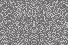 5413-10 cikkszámú tapéta.Barokk-klasszikus,különleges felületű,barna,szürke,lemosható,vlies tapéta