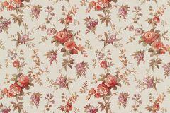5825-06 cikkszámú tapéta.Különleges felületű,retro,virágmintás,bézs-drapp,lila,narancs-terrakotta,zöld,lemosható,vlies tapéta