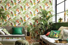 6302-07 cikkszámú tapéta.állatok,különleges felületű,természeti mintás,fehér,narancs-terrakotta,piros-bordó,szürke,zöld,lemosható,vlies tapéta