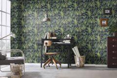 6303-08 cikkszámú tapéta.Különleges felületű,természeti mintás,barna,kék,zöld,lemosható,vlies tapéta