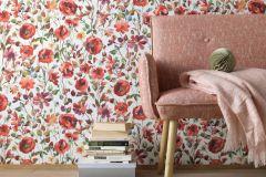 6330-06 cikkszámú tapéta.Különleges felületű,virágmintás,fehér,kék,lila,piros-bordó,sárga,zöld,lemosható,vlies tapéta
