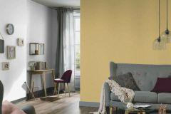 6332-20 cikkszámú tapéta.Egyszínű,különleges felületű,sárga,lemosható,illesztés mentes,vlies tapéta