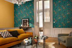 6335-36 cikkszámú tapéta.Különleges felületű,természeti mintás,virágmintás,barna,sárga,zöld,lemosható,vlies tapéta