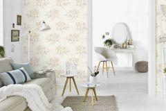 6359-02 cikkszámú tapéta.Különleges felületű,természeti mintás,virágmintás,bézs-drapp,fehér,szürke,lemosható,vlies tapéta