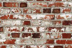 102538 cikkszámú tapéta.Kőhatású-kőmintás,retro,barna,fehér,piros-bordó,szürke,gyengén mosható,papír tapéta