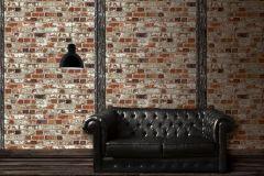 102540 cikkszámú tapéta.Kőhatású-kőmintás,narancs-terrakotta,piros-bordó,gyengén mosható,vlies tapéta