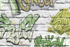 L17904 cikkszámú tapéta.Gyerek,fehér,szürke,zöld,gyengén mosható,vlies tapéta