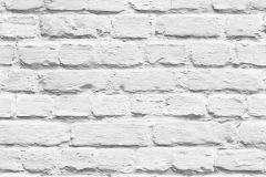 L22609 cikkszámú tapéta.Egyszínű,kőhatású-kőmintás,fehér,gyengén mosható,vlies tapéta