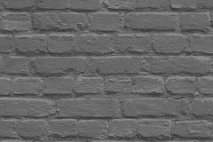 L22629 cikkszámú tapéta.Egyszínű,kőhatású-kőmintás,szürke,gyengén mosható,vlies tapéta