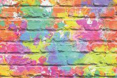L33505 cikkszámú tapéta.Kőhatású-kőmintás,fehér,narancs-terrakotta,pink-rózsaszín,piros-bordó,sárga,zöld,gyengén mosható,vlies tapéta